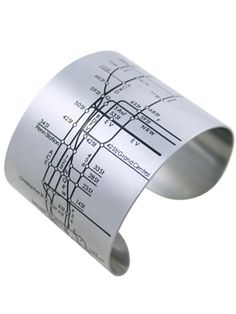 Avoid looking like a tourist in NYC - this ultra-cool cuff is both a sleek accessory AND a transit map.