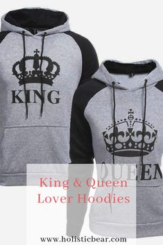 abbf21b0 Our stunning King & Queen Lover Hoodies are perfect for two lovers  madly in love