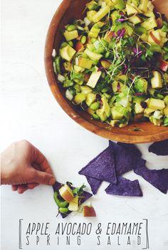 Friendship Friday : Apple, Avocado & Edamame Spring Salad (v/gf) ||| Brewing Happiness