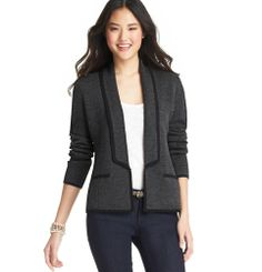 Tipped Merino Wool Blend Tuxedo Sweater from Loft on Catalog Spree, my personal digital mall.