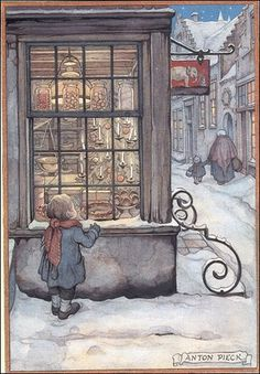 Anton Pieck. There is an entire amusement park in the Netherlands based on his illustrations!