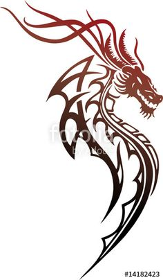 drache tribal tattoo tattoo art pinterest tattoo. Black Bedroom Furniture Sets. Home Design Ideas