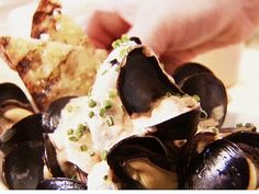 Steamed Mussels with Spicy Red Pepper Aioli. Can't wait to try!