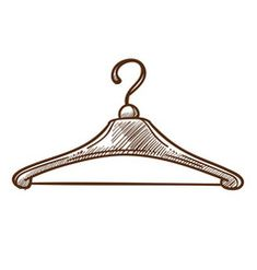 Colored clothes or apparel hanging on hangers on Vector Image Polymer Clay Kawaii, Polymer Clay Animals, Hanger Logo, Hangers, Hanger Clips, Tailor Shop, Still Life Drawing, Fashion Logo Design, Boutique Logo