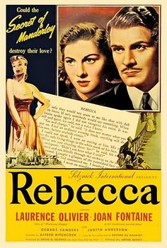 Rebecca (1940) dir. by Alfred Hitchock.  When a naive young woman marries a rich widower and settles in his gigantic mansion, she finds the memory of the first wife maintaining a grip on her husband and the servants.