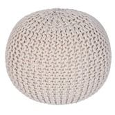 Found it at Wayfair - Knitted Cable Pouf Ottoman