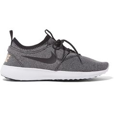 Nike Juvenate SE marled mesh sneakers ($95) ❤ liked on Polyvore featuring shoes, sneakers, nike, grey, grey sneakers, breathable shoes, nike sneakers, breathable mesh shoes and training sneakers