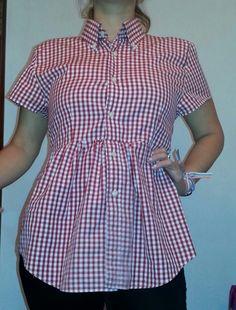 Transforma camisas de hombre en blusas.  Camisa  Reutilizar  Reciclar   Blusa  Moda  Ropa  Costura  Diy Lucky Chik fd1c1a694bf2d