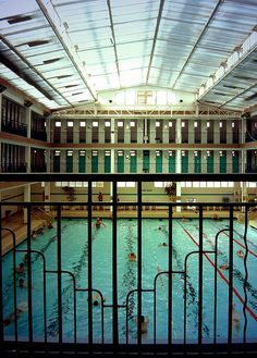 Pontoise Pool, 19 Rue de Pontoise, Paris V -I love to swim! It's so nice and exciting to visit new swimbaths when in other places, especially abroad! This one looks marvellous with its glassroof!