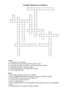Foldable For Science Scientific Method | Scientific Method Crossword Review
