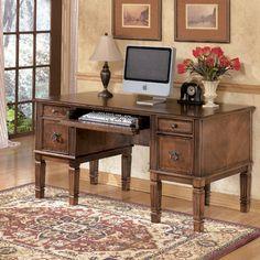Signature Design by Ashley Hamlyn Storage Leg Computer Desk | $656 free shipping