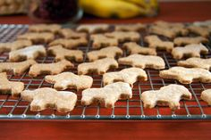 Save this healthy kid-friendly snack recipe to bake up a batch of Vegan Banana Bread Animal Crackers.