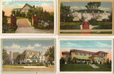Homes of Mary Pickford and Douglas Fairbanks, Jack Benny, Wallace Berry & Tom Mix