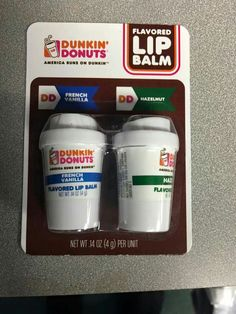 Dunkin donuts lip balm? Yes please.