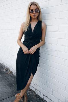 ruth cocktail dress - black