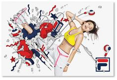 Print campaign for Fila Japan