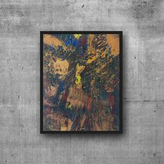 Original Acrylic Abstract Painting  Gold Palette knife Art on