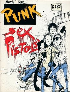 The Sex Pistols, Vol 1, issue no 8, March 1977. Illustration and Design by Steve Taylor.