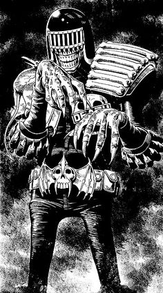 Judge Death  The Ultime Super Vilain....  Art : Brian Bolland