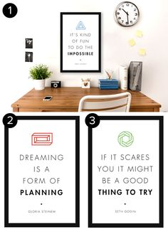 Free Inspirational Posters for Office - The Muse: Check out these free inspirational posters to h...
