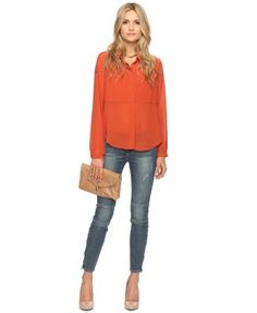 Rust colored top