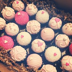 Girly pink for a tea party. www.cakeballers.com #thecakeballers #cakeballers #cakeballer #cakeballs #pink