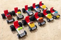 10pcs. Custom Lego mini race car for party favors/give aways/games and bag…