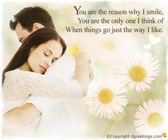 Dgreetings.....    U r the reason 4 my smile....i luv u...<3<3<3