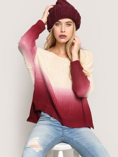Dip Dye Sweater - Gypsy Warrior