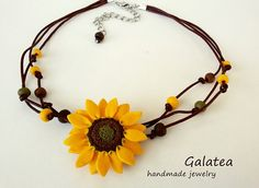 Hey, I found this really awesome Etsy listing at https://www.etsy.com/listing/235054082/necklace-sunflower-necklace-with-flowers