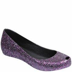 Melissa Women's Ultragirl Glitter Pumps - Purple