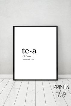 Tea Quote Print Poster Printable Tea Cup by PrintsMiuusStudio