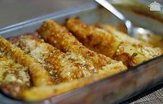 Canelone de Frango com Cream Cheese