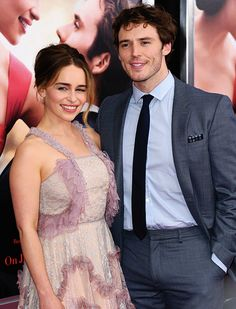 Emilia Clarke and Sam Claflin attend the 'Me Before You' World Premiere at AMC Loews Lincoln Square 13 theater on May 23, 2016 in New York City.
