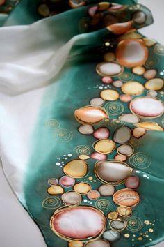 Šály - green beads - 6034964_