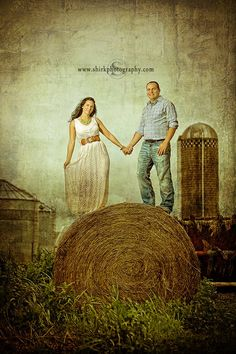 Engagement Session on an Iowa Farm