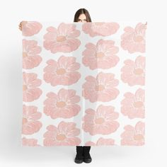 'Contour Flower Design' Scarf by iouryRB