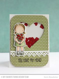shaker card die-namics pierced hearts - Google Search