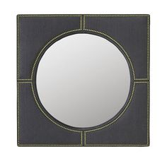 ROSALIND UPHOLSTERED MIRROR<BR>[available online and in stores]