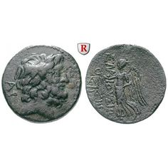 Kilikien, Elaiusa Sebaste, Bronze 1.Jh. v.Chr., ss/ss+: Bronze 22 mm 1.Jh. v.Chr. Kopf des Zeus r. mit Lorbeerkranz, i.F.l.… #coins