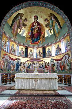 Byzantine Icons, Byzantine Art, Saint Anthony Church, Christ Pantocrator, Church Interior Design, Archangel Raphael, Russian Orthodox, Catholic Art, Orthodox Icons