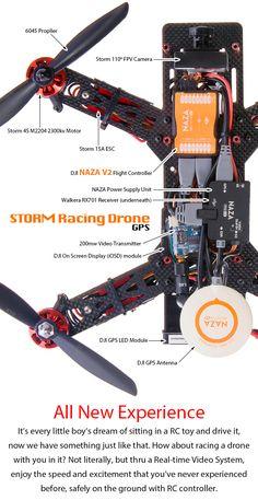 STORM Racing Drone GPS (RTF / NAZA V2) http://www.helipal.com/storm-racing-drone-gps-rtf-naza-v2.html