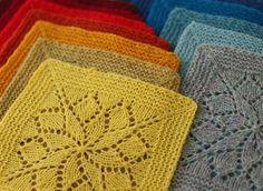 Vivid Blanket Knitting Kit - Knitting Kits - Tin Can Knits - 1 Knitted Squares Pattern, Knitting Squares, Dishcloth Knitting Patterns, Knitting Kits, Knitting Stitches, Crochet Patterns, Free Doily Patterns, Mode Crochet, Crochet Yarn