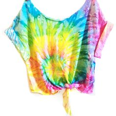 Tie Dye Crop Top Coachella Crop Top Tiedye Tshirt Women's Clothing Music Festival Tumblr Tee Hippie ($30) found on Polyvore featuring tops, t-shirts, shirts, crop tops, silver, women's clothing, tie dyed shirts, crop shirts, tye dye t shirts and tie front shirt