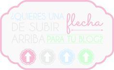 ¡Flechas de subir arriba para mi blog en distintos colores!