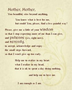 Pagan's serenity prayer. We should say this daily just like we did the pledge of allegiance.  Wonderful way to remind ourselves we are unique and special....M