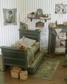 poppenhuis dollhouse bed art of mini frontpage