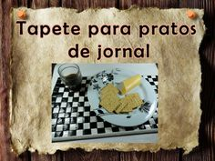 Artesanato e Reciclagem DIY - Tapete para pratos de jornal - Placemat made of newspaper -->  https://youtu.be/FemE0BVqNqE