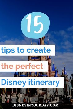 15 tips to create the perfect Disney World itinerary - if you're going to Disney World, you might want a plan. Whether you prefer something simple or detailed, it's good to stay organized! Everyone's approach to vacation is different so it's important to create an itinerary that's right for YOU, not just copy another itinerary you find online. Get the best tips for how to put together your ideal Disney World planner here!