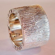Handmade Silver Ring Chunky Silver Rings with Sparkly by DOGSTONE, £89.00